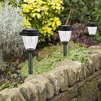Winchance Solar Pathway Lights Stainless Steel Solar LED Stake Lights Waterproof,8 Packs Matt Black