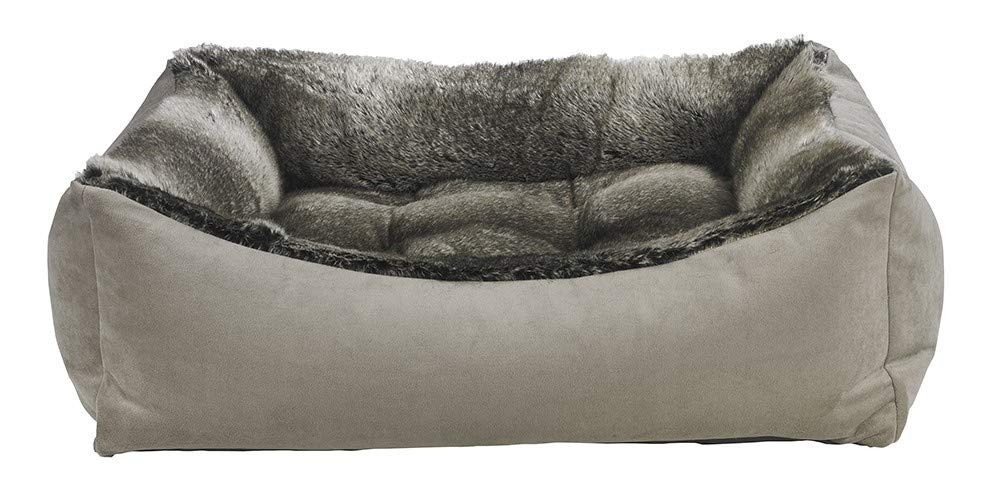 Bowsers Scoop Bed, Medium, Chinchilla Faux Fur