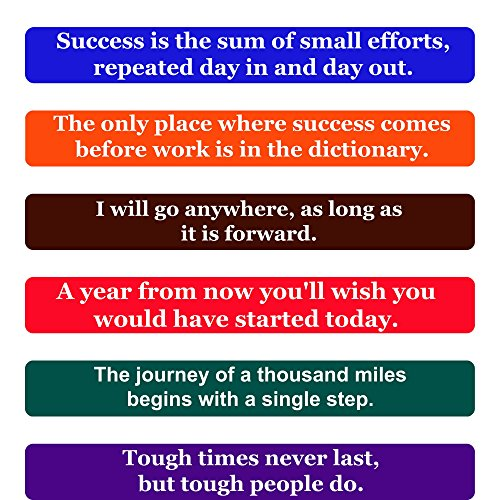 Success Quotes Fridge Magnets- Inspirational Words & Motivational Quotes Magnet Set –The Perfect Gift to Inspire Success in Others, Set of 6 Individual Quote Magnets by Home & (Graduation Inspirational Words)