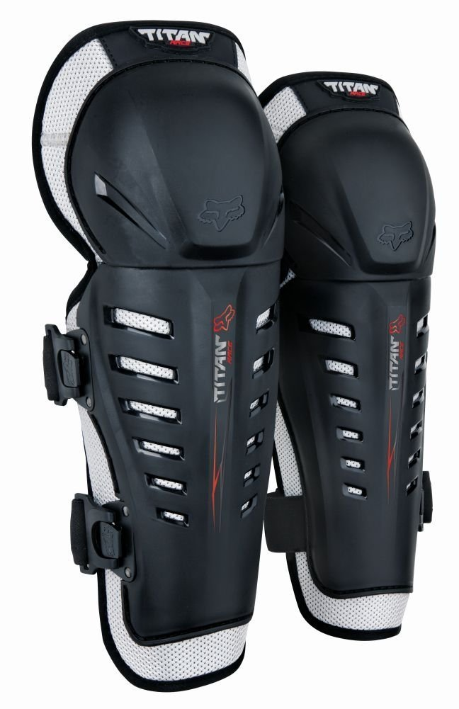 Fox Racing 2014 Youth Titan Race Knee/Shin Guards (Black) by Fox Racing