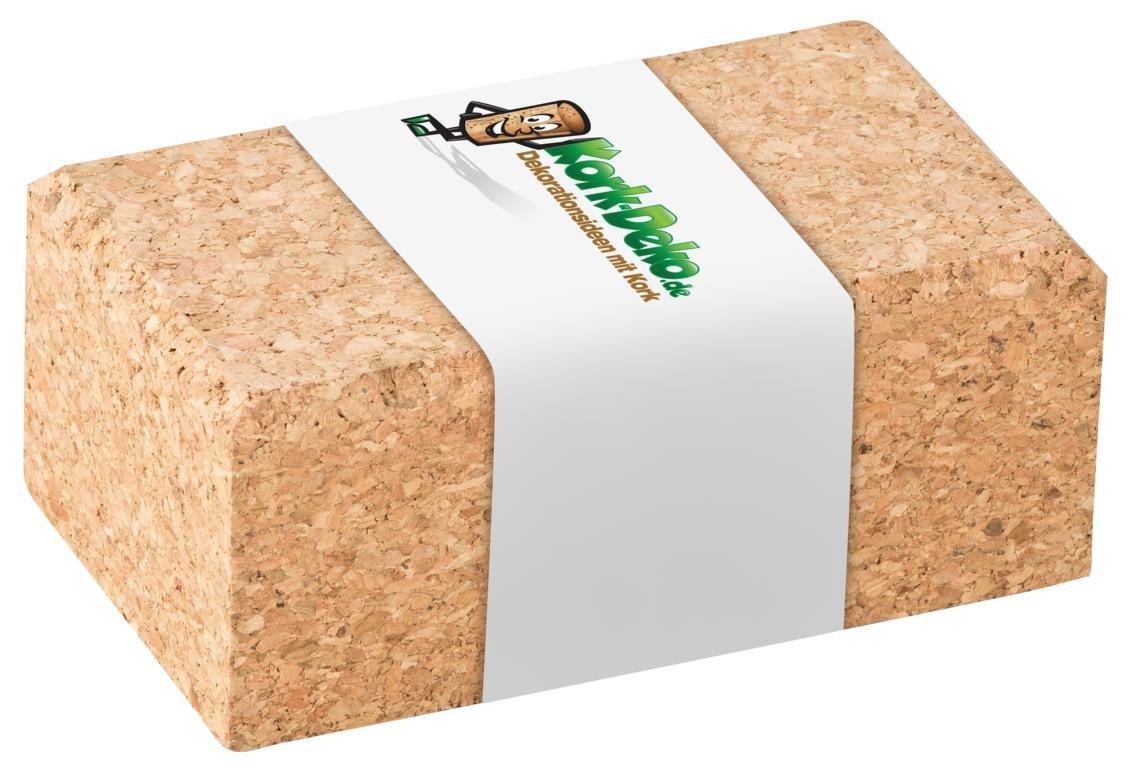 Kork-Schleifklotz mit abgerundeten Kanten 10x4x6 cm | Schleifblock/Handschleifklotz aus Kork als Halterung fü r Schleifpapier, Schmirgelpapier, Sandpapier von Kork-Deko