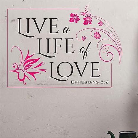 Pegatinas De Pared Frases Vive Una Vida De Amor Efesios 5 2