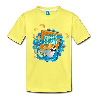 c20ffbf2e Spreadshirt DreamWorks Penguins Of Madagascar Cheezy Dibbles Kids' Premium T -Shirt, 134/140 (8 Years), Yellow: Amazon.co.uk: Clothing