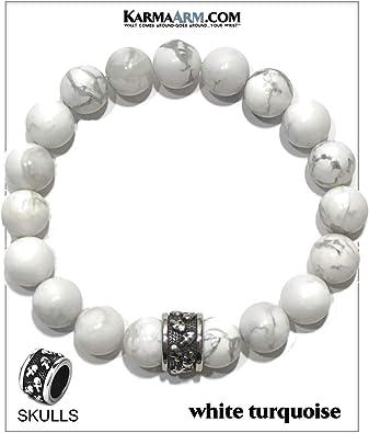 Beaded Stretch Wristband Bracelet Chakra Yoga Jewelry KarmaArm Love Bracelet Intimacy : India Agate Mantra Bead Reiki Healing Energy Wellness Self-Care Meditation Jewelry
