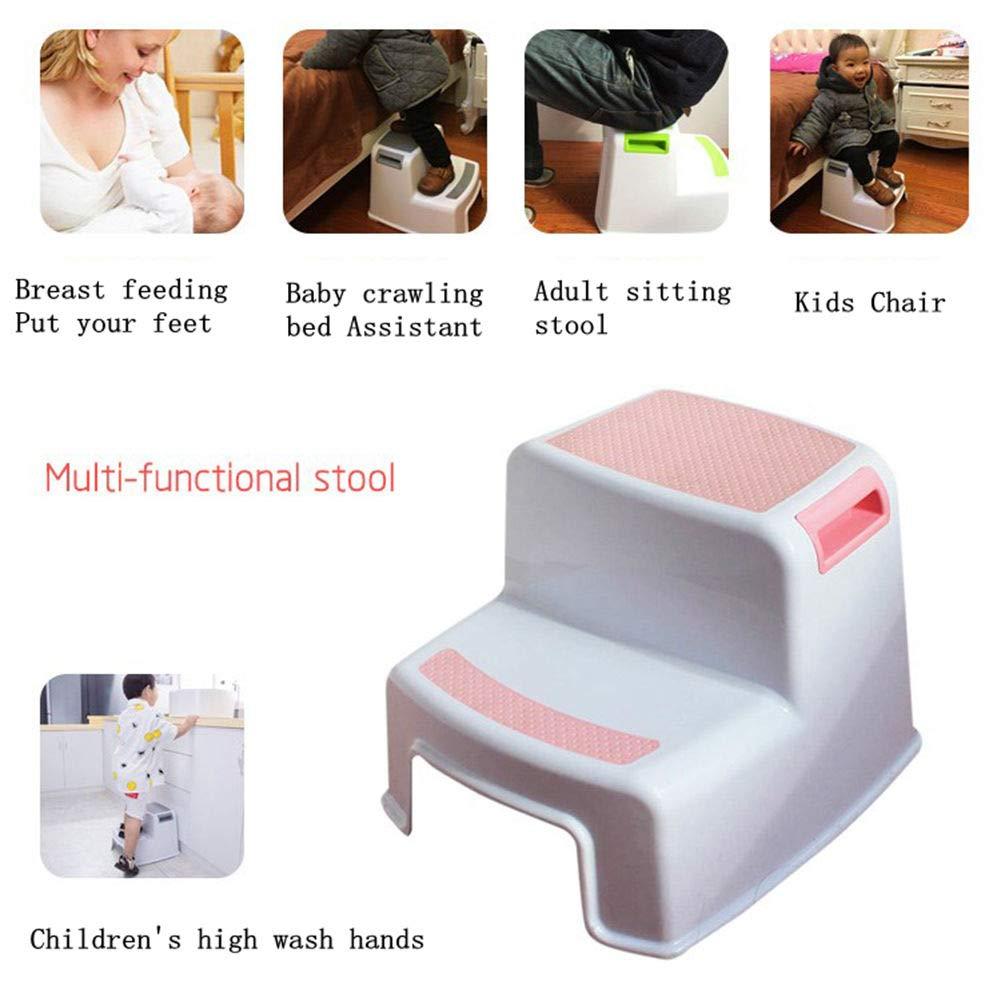Homdsim Step tabourets pour enfant Tabouret pour toilettes dapprentissage de la propret/é antid/érapant Grip doux pour la s/écurit/é de salle de bain Potty Tabouret et Marchepied de cuisine Green 1