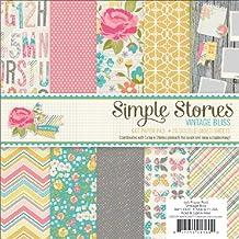 "Simple Stories Double-Sided Paper Pad 6""X6"" 24/Pkg-Vintage Bliss, 12 Designs/2 Each"