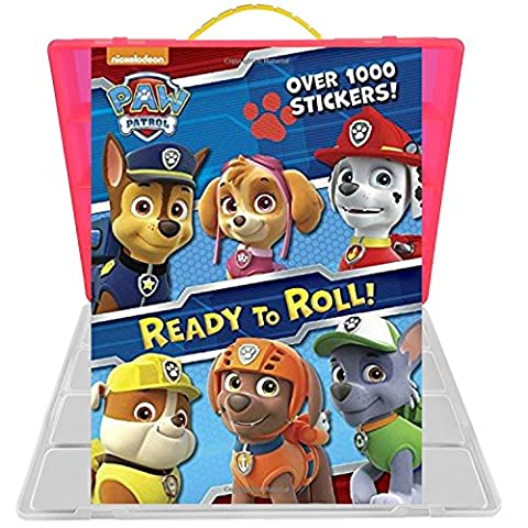 Official Paw Patrol Sticker Book + Mini Figures Compatible Storage Organizer. Stores Up to 30 Mini Figures. Customize Your Children's Storage Box With This Ultimate 1000+ Sticker Collection