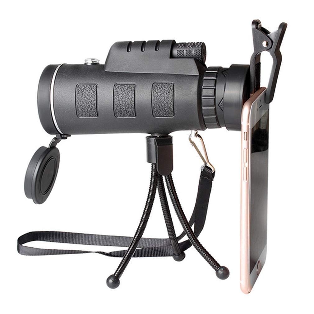 EBRICKON HD 40X60 Zoom Monocular Telescope Phone Clip Waterproof Military Power Hunting Optics Outdoor Spotting Binoculars