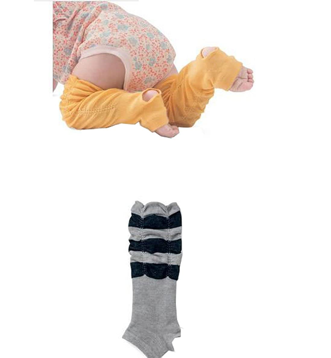 Lucky staryuan /® Set of 6 Baby Girl Cotton Pedal Kneepads Leg Warmer