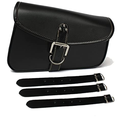 509e2326a80c Image Unavailable. Image not available for. Color  Triclicks MOTORCYCLE PU  Leather Solo Bag Swingarm SIDE Bag for Harley Sportster