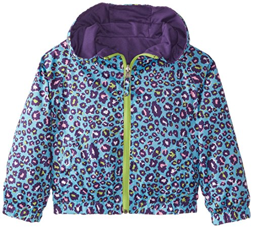Pink Platinum Little Girls' Reversible Leopard Print Jacket, Turquoise, 6X (Reversible Leopard)