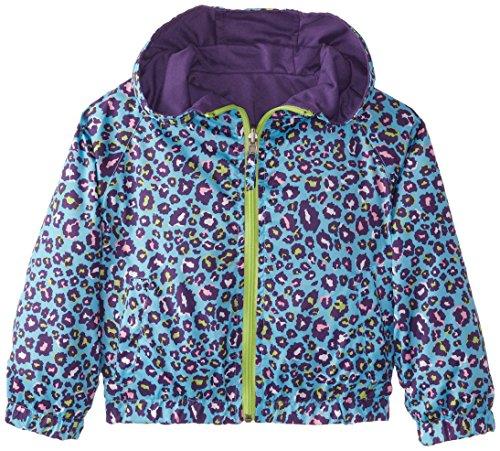 Pink Platinum Little Girls' Reversible Leopard Print Jacket, Turquoise, 6X (Leopard Reversible)