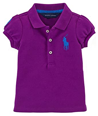 422526be9 Amazon.com: Ralph Lauren Baby Girls Big Pony Cotton Polo Shirt (3 MONTHS,  NEW HYACINTH): Clothing
