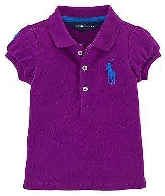 c6a2636cebe72 Amazon.com  Ralph Lauren Baby Girls Big Pony Cotton Polo Shirt (3 ...