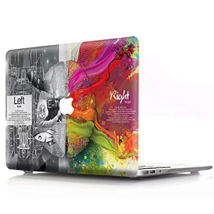 MacBook Air Case, AQYLQ Creative Pattern Rubber Coated Plastic Protective Cover Hard Case Apple Laptop MacBook Air 13 inch Model A1369 / A1466, Left ...