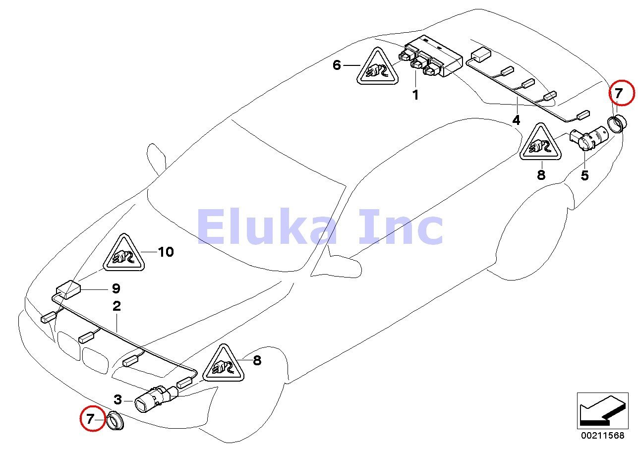 bmw e39 pdc wiring diagram