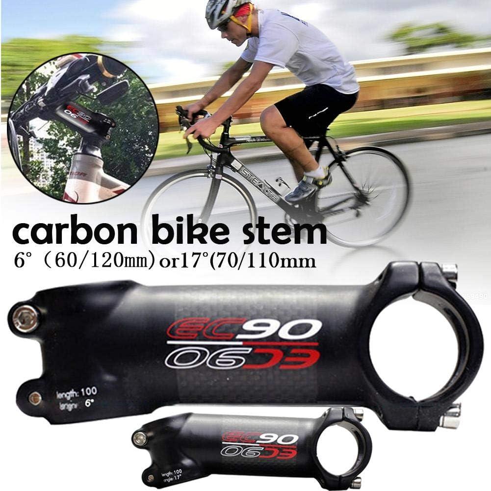 Navigatee Manillar De La Bicicleta Tallo EC90 Bici del Tallo De La Bicicleta De Fibra De Carbono Tallo De La Bicicleta V/ástago Elevador MTB Bicicleta De Carretera 31.8mm /Ángulo 6//17