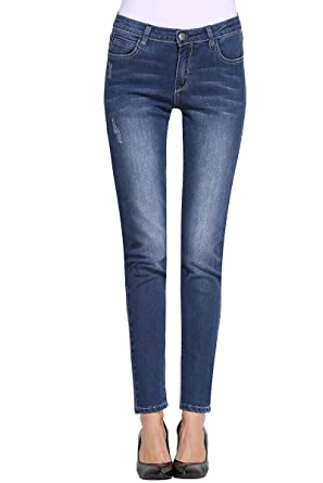 Butt Lift Skinny Jeans, P.LOTOR Women's Casual Distressed Stretch ...