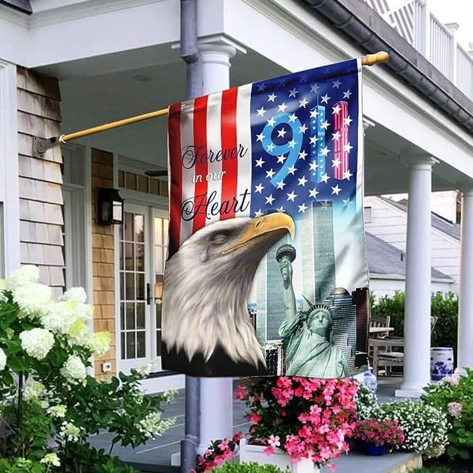 Bass Fishing American Flag PN191F House Flag Garden Flag
