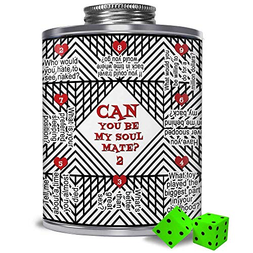 CAN YOU BE MY SOULMATE 2? Card Game On An Art Deco Can for Partners & Couples. 150+ Relationship Building Questions for Starting Riveting Conversations and, well, who knows! (Topics for Couples)