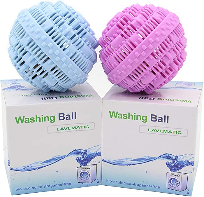 Lovfri Laundry Ball Set, Eco-Friendly Washing Ball, Super Laundry Balls with Professional Flocking Storage Bag and Hook, One set can be reused 1500 times,All Natural non-chemical Detergent(4piece set)