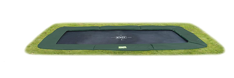 EXIT InTerra grün ebenerdiges Trampolin 214x366cm - grün InTerra e8607e
