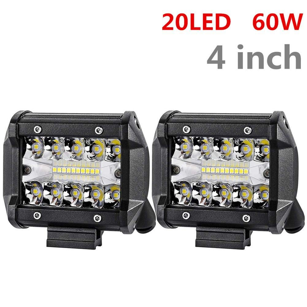 Prom-note Foco Led Tractor para Off-Road,Camió n, 20/40LED 60/120W Faros Trabajo Led Coches, IP67 Impermeable de Luz (20LED Camión