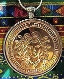 Medusa Sterling Silver Necklace%2C Coppe