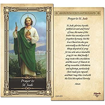 180dc45e249 Amazon.com : Prayer To St. Jude Prayer Card - Single Card : Office ...