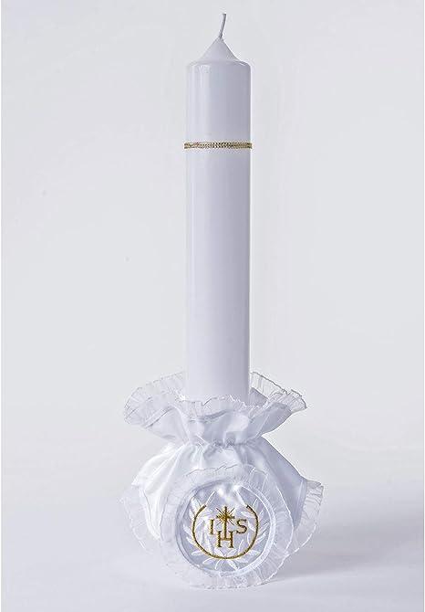 Tropfschutz für Kerzen M15 weiß//gold Größe bis 5cm Durchmesser Kerzentropfschutz