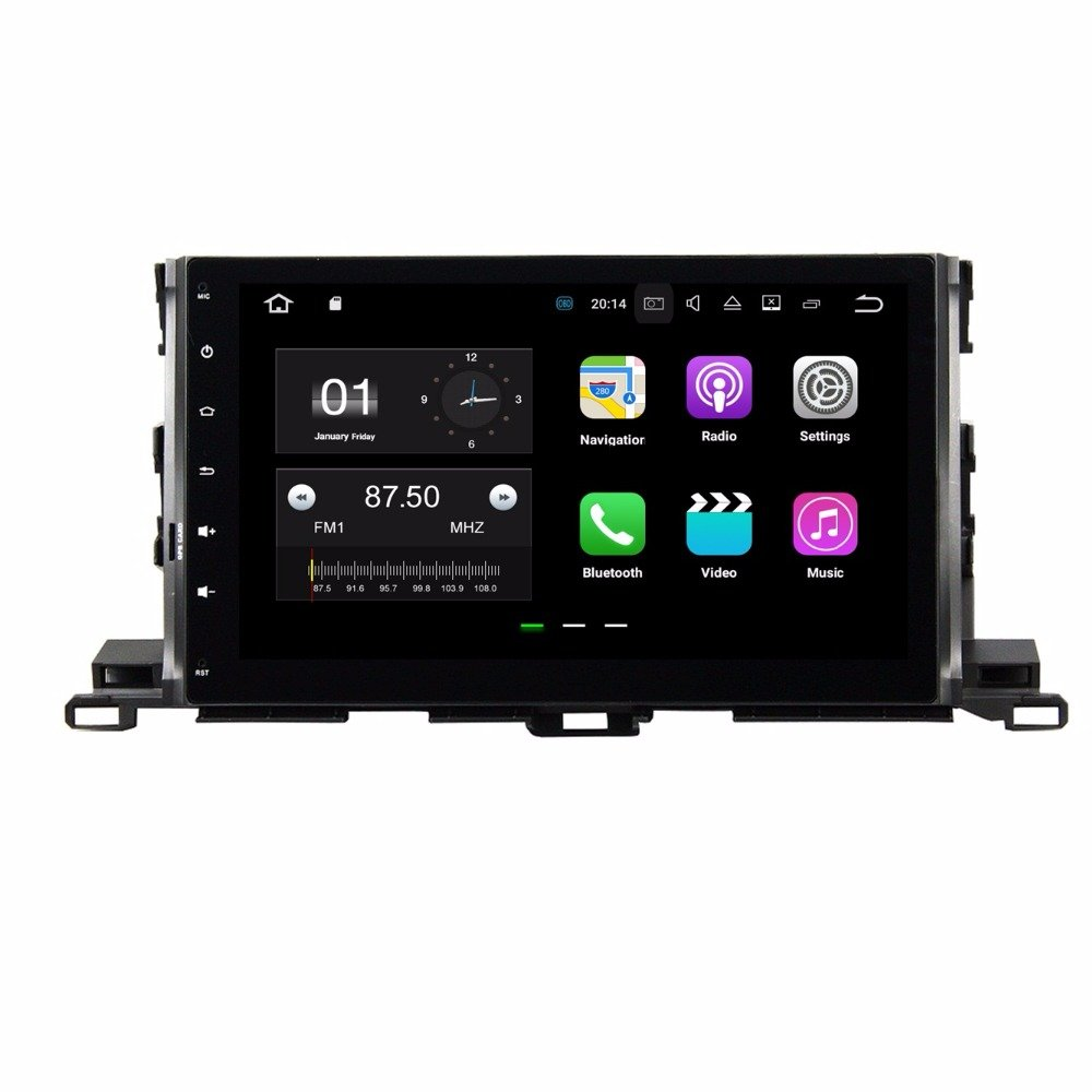 BoCID Quad Core 10.1'' Android 7.1 Car DVD Player for Toyota Highlander 2015 With 2GB RAM Radio GPS WIFI Bluetooth USB DVR 16GB ROM by BoCID (Image #1)