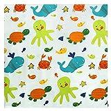 Zicac 43.3'' Large Waterproof Splat Mat Floor Mat Floor Cover Food Splash Spill Mat (Multicolor)
