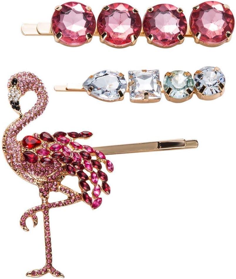 WALNUTA Color del Diamante Horquilla de la Manera Diamante Flequillo Clip Clip de Pelo