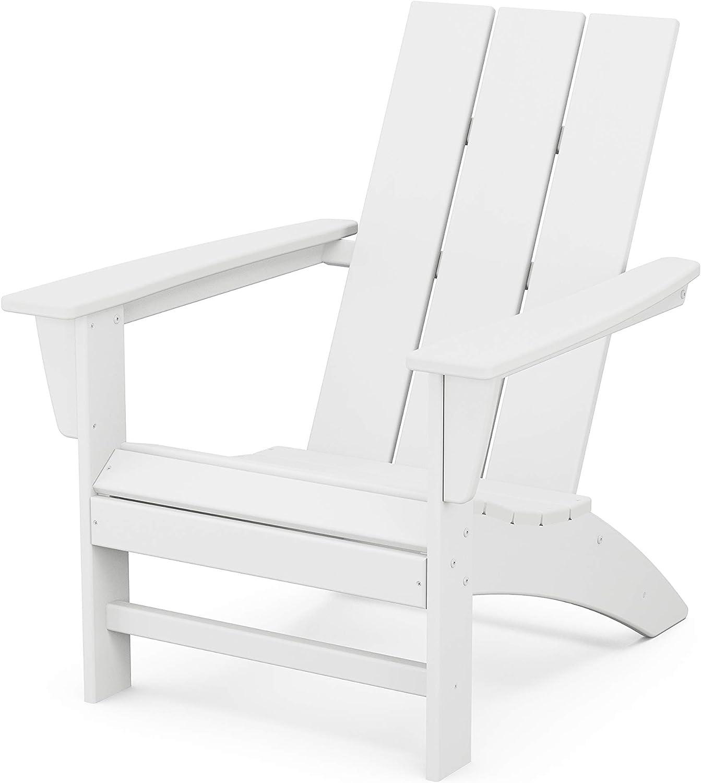 POLYWOOD AD420WH Modern Adirondack Chair, White