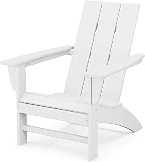 product image for POLYWOOD AD420WH Modern Adirondack Chair, White
