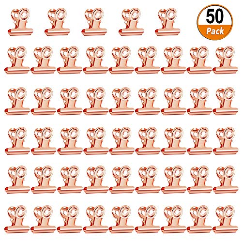 Small Bulldog Clips 50 Pack Metal Binder Clips Tiny for sale  Delivered anywhere in USA