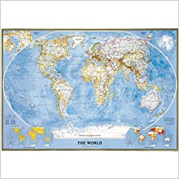 Mapa mural del mundo classic grande. 151 x 103 cm. Español. National Geographic.: Amazon.es: VV.AA.: Libros