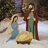 Nativity Scene Christmas Metal Yard Decor