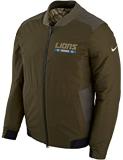 Detroit Lions NFL Salute to Service Men s Reversible Bomber Jacket Olive 44b2ddcb5