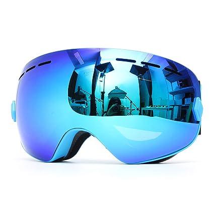 G4Free Ski Snowboard Goggles Over Glasses for Men Women Youth,Magnetic Lens