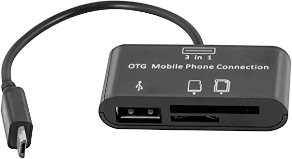 Micro USB to OTG Works with Alcatel SMARTFLIP Direct On-The-Go Connection Kit and Cable Adapter! Black