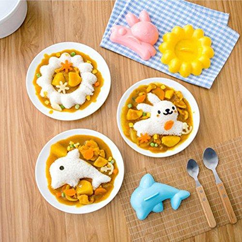 XABegin 4 sets Plastic Egg Sushi Rice Mold Mould Decorating Fondant Cake Tool by XABegin (Image #4)