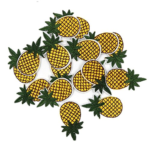 roidery Pineapple Appliques Iron On Embellishments Sewing DIY Mini Patches ()
