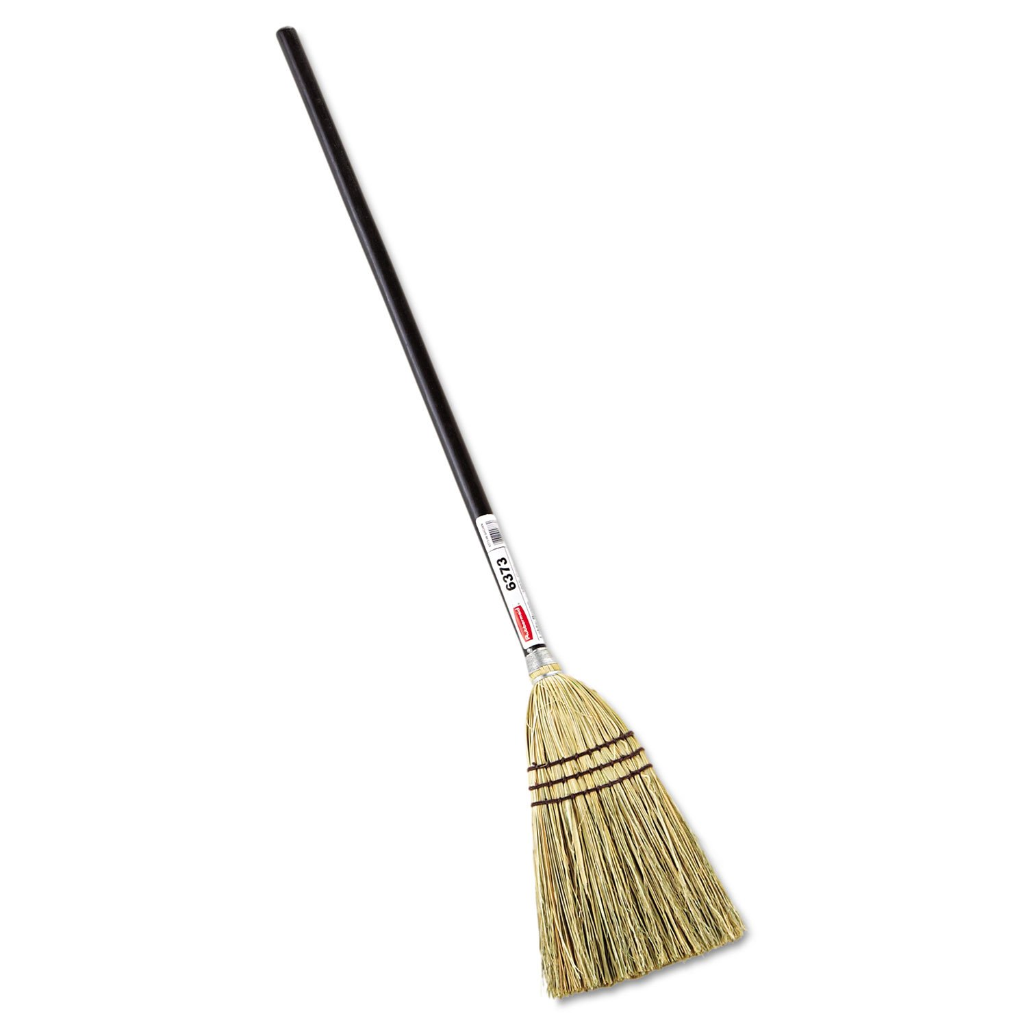 Rubbermaid 6373BRO Lobby Corn-Fill Broom, 38'' Handle, Brown