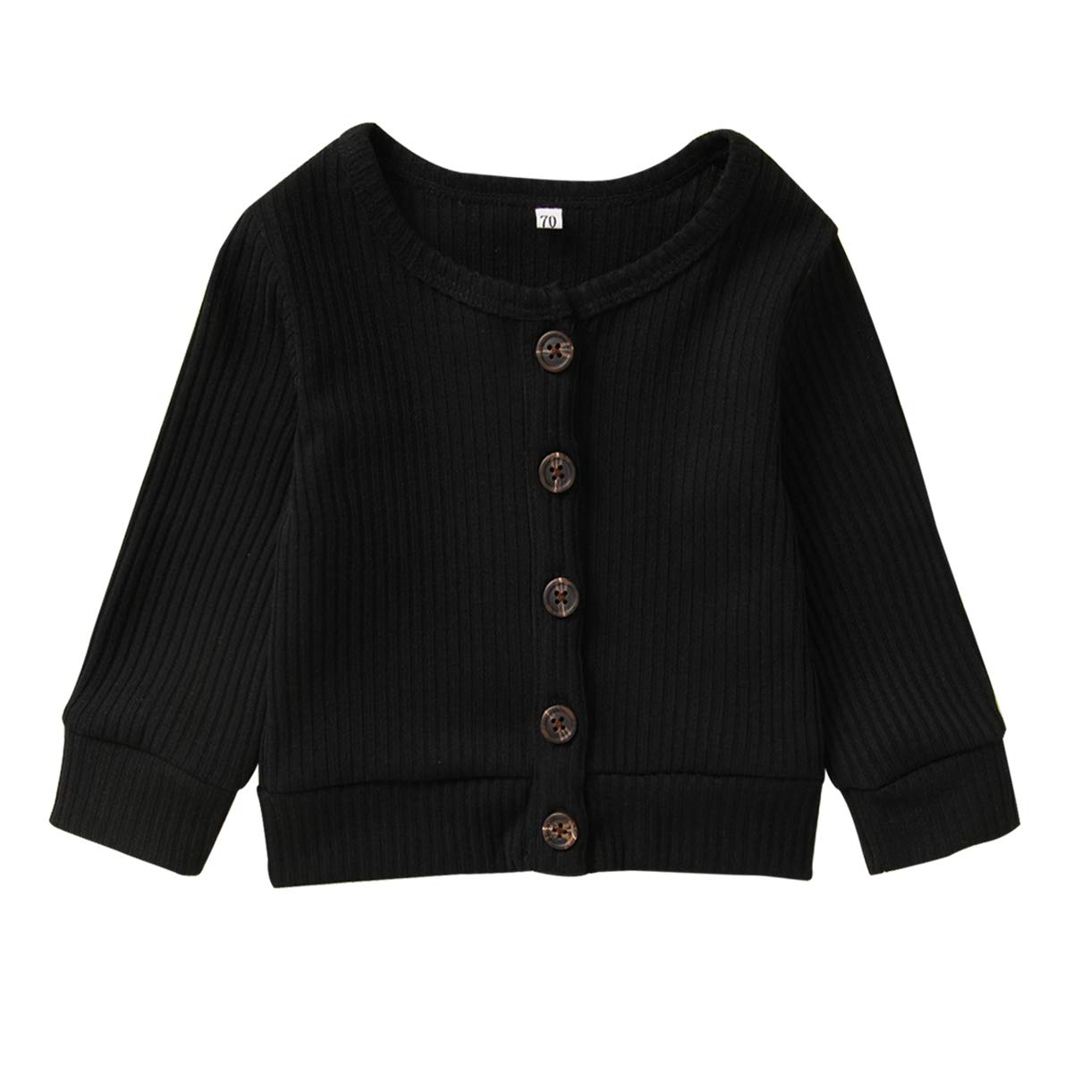 Newborn Infrant Baby Girl Boy Clothes Long Sleeve Button Down Cotton Knitted Sweater Cardigan Coat Fall Winter Outfits