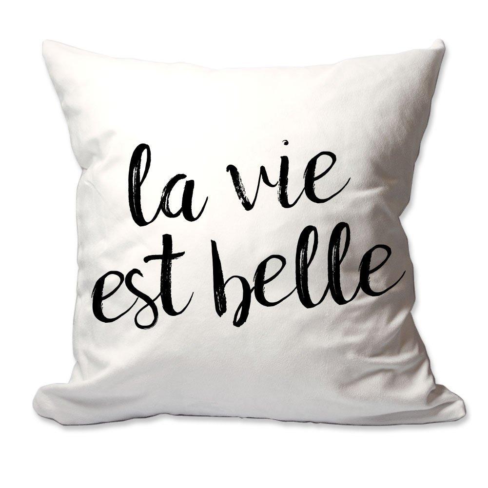 4 Wooden Shoes La Vie Est Belle Throw Pillow Cover