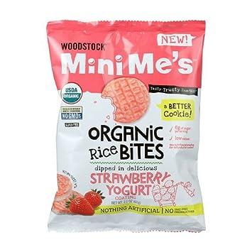 Woodstock Mini Me de arroz orgánico Bites, yogur de fresa ...