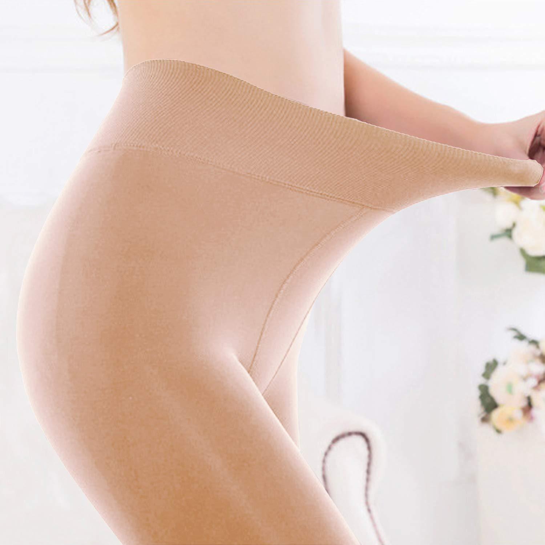 Vertvie Femme Leggings Collant Doubl/é Polaire Chaud Hiver /Épais Velours Fleece Thermique Pantalon Extensible Slim