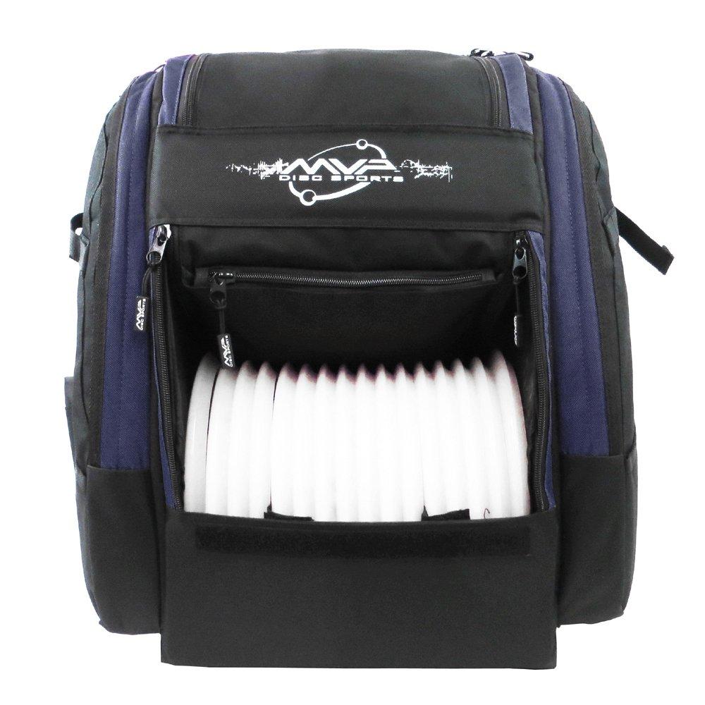 MVP Disc Sports Voyager Pro Backpack Disc Golf Bag - Navy