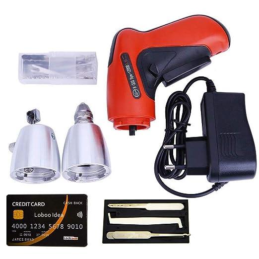 Loboo Idea KLOM Kit de herramienta de selección de cerradura eléctrica con cerradura inalámbrica y cerradura de tarjeta de crédito, con cuchillas de ...